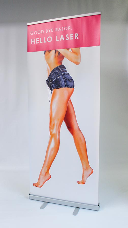 Roll-up Banner stand with vivid Graphics ideal for promotions