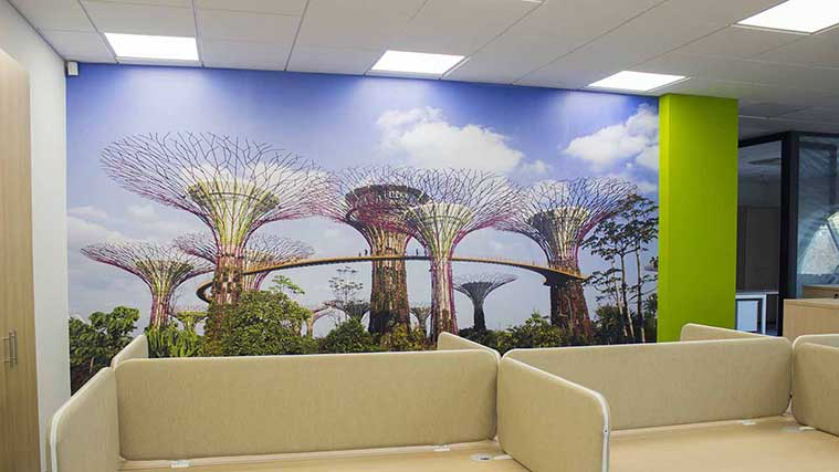 Custom made Landscape Wall Decal for interior branding