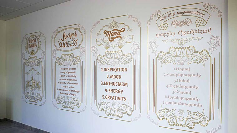 Custom-made Wall Decal made of high-quality Opaque Vinyl