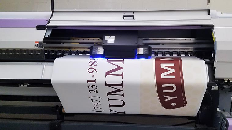 Vinyl decals printing process