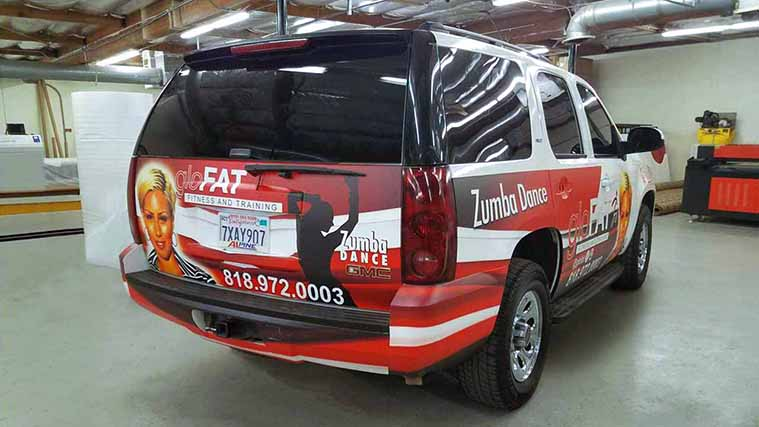 Customized Vehicle Wrapping for a Zumba dance studio