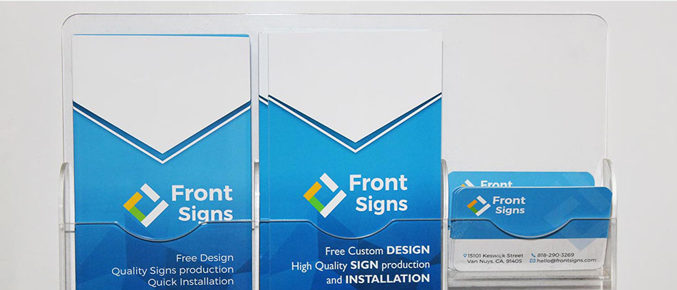 Front Signs desk organizer from acryl