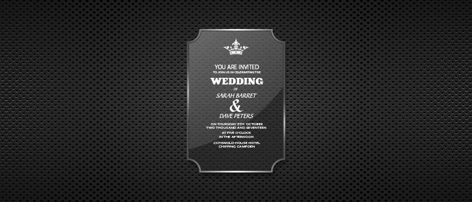 wedding invitation card of acrylic material