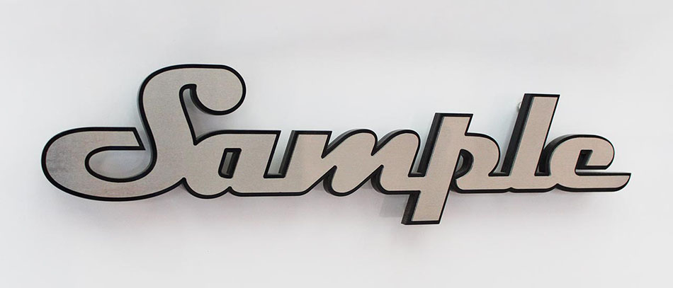 Sample aluminum channel letters on wall