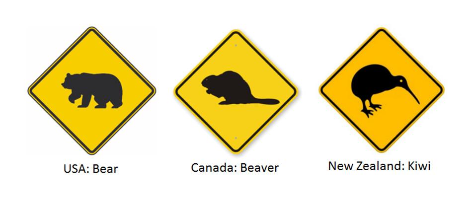 Animal alert signs