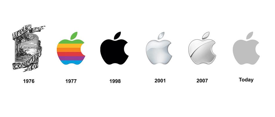 Apple brand evolution design