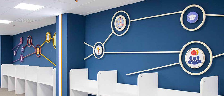 Cool office guide PVC wall decals - Front signs 2