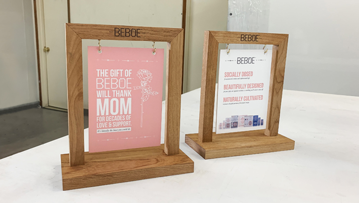 beboe wooden tabletop signs