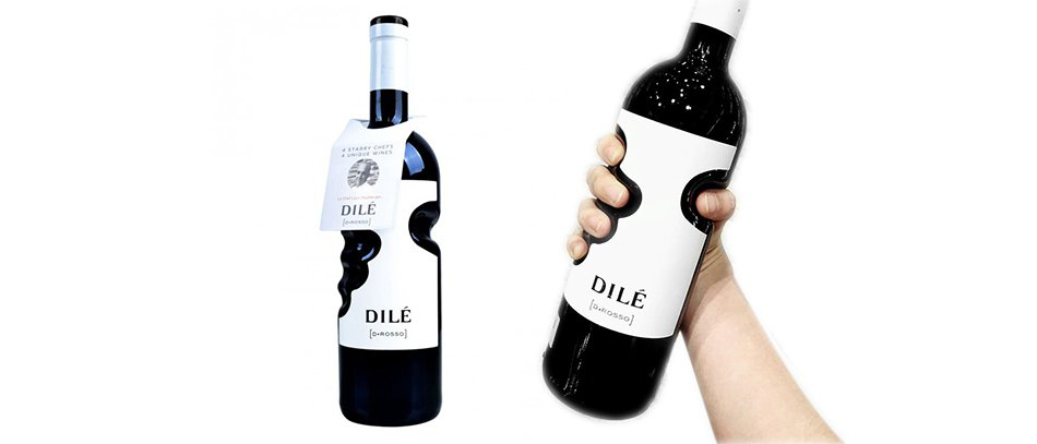 brand identifying creative bottle layout