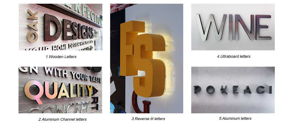 FS illuminated channel letters
