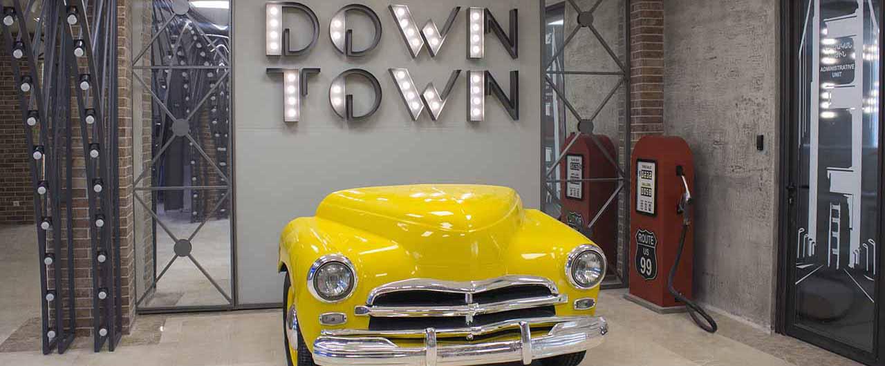 DOWN TOWN interior decoration car