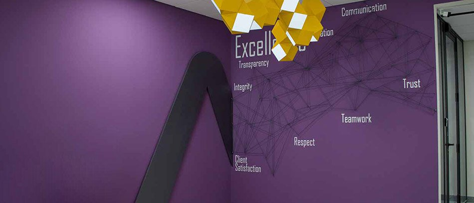 bright colored creative interior sign with quotes - Front Signs