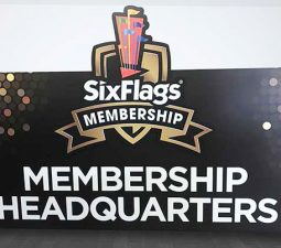 custom pvc stand sign for Six Flags