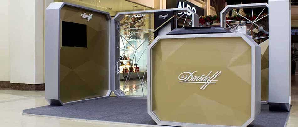 Davidoff 3D lettered trade show display - Front Signs