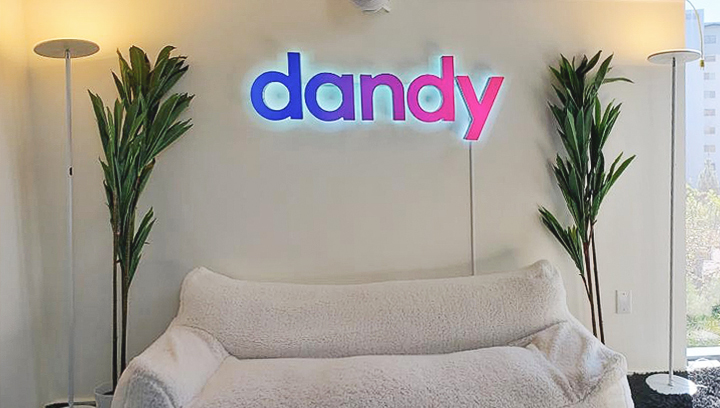 Dandy indoor channel letters with different colors made of aluminum and acrylic for interior branding