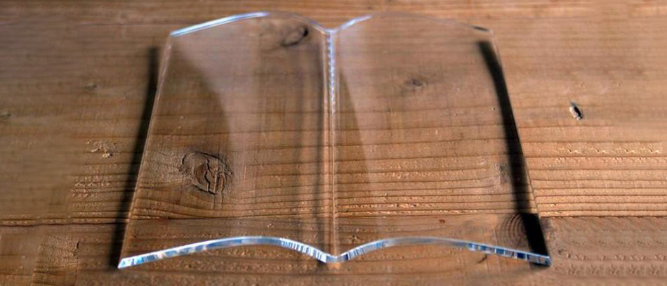book on book glass page holder