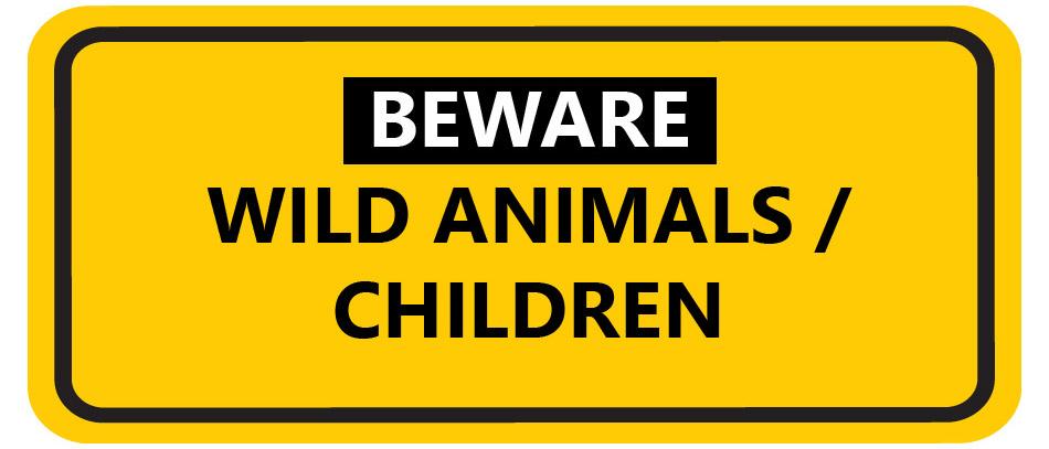 Beware funny road sign
