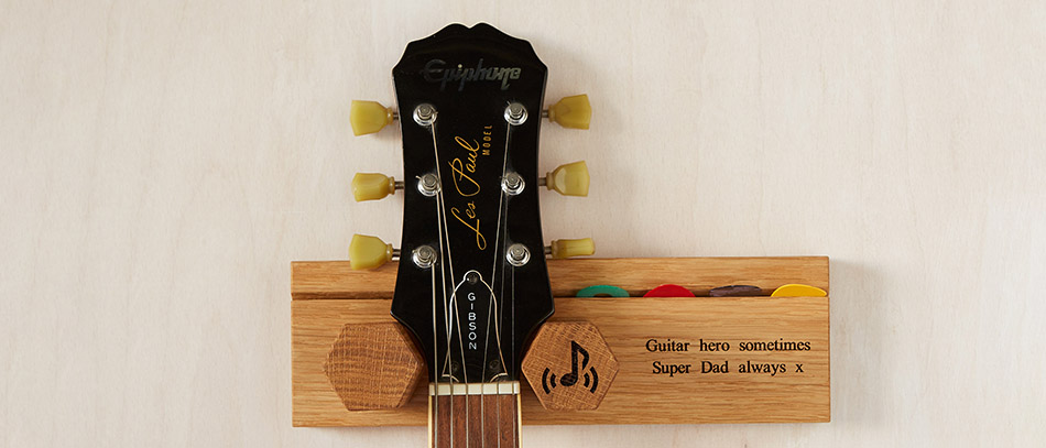 personalised wooden guitar stand