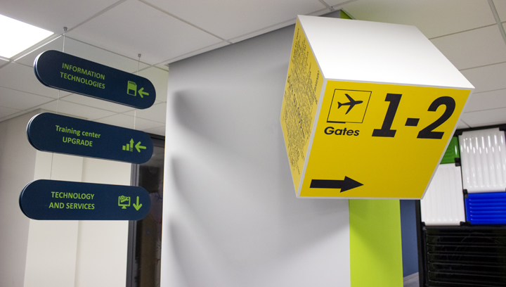 indoor wayfinding pvc signs