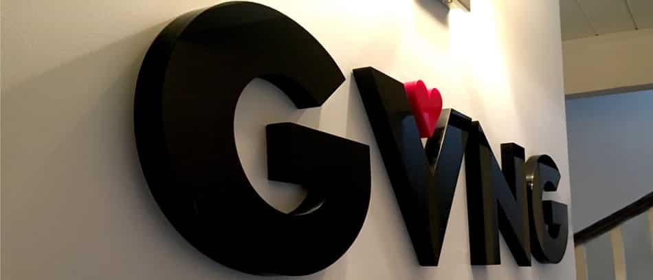 GVNG 3D letter sign