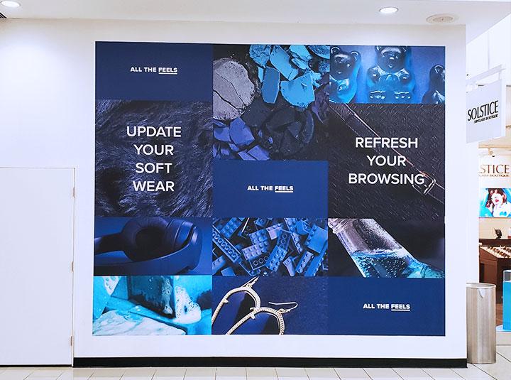 interior advertising sign