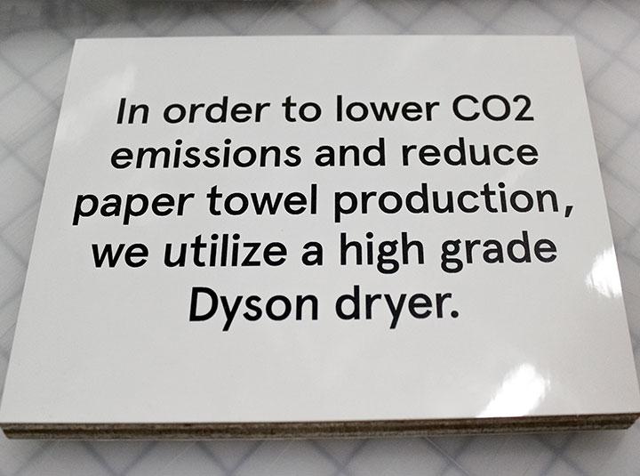 interior informative sign