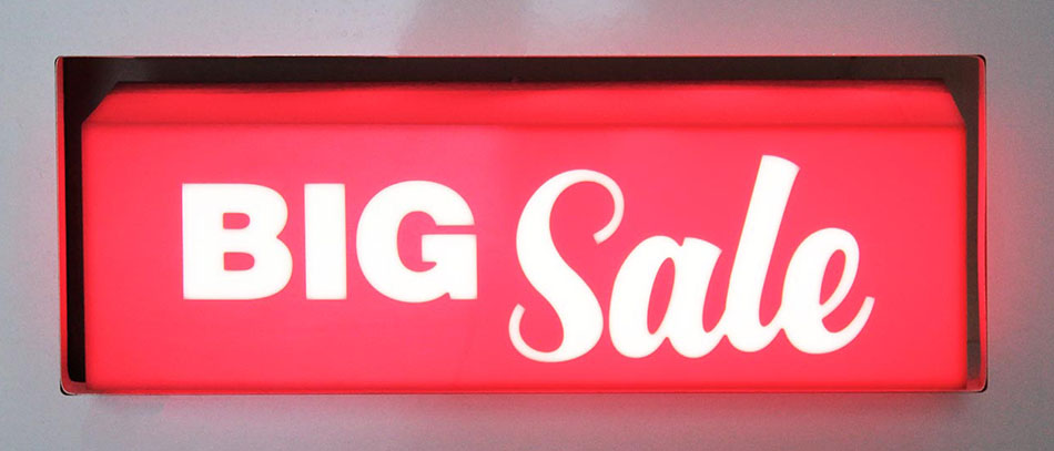 Big Sale red lightbox from acryl