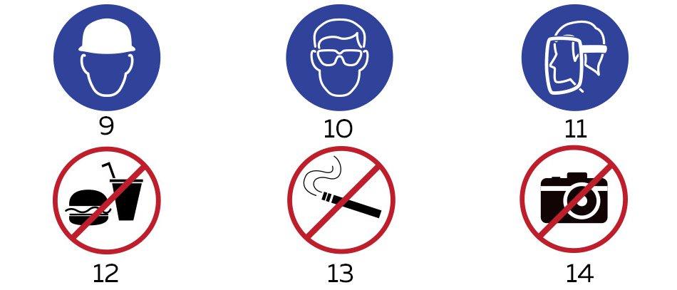 Mandatory signs with aluminum printings