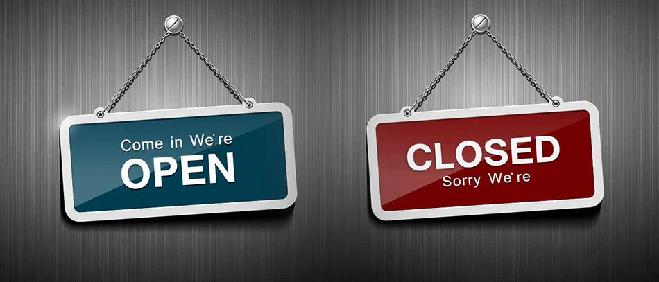 Open-Closed hanging signs
