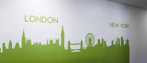 London personalized green wall graphics - Front Signs