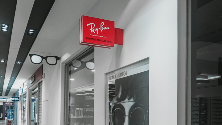 ray ban indoor lightbox sign