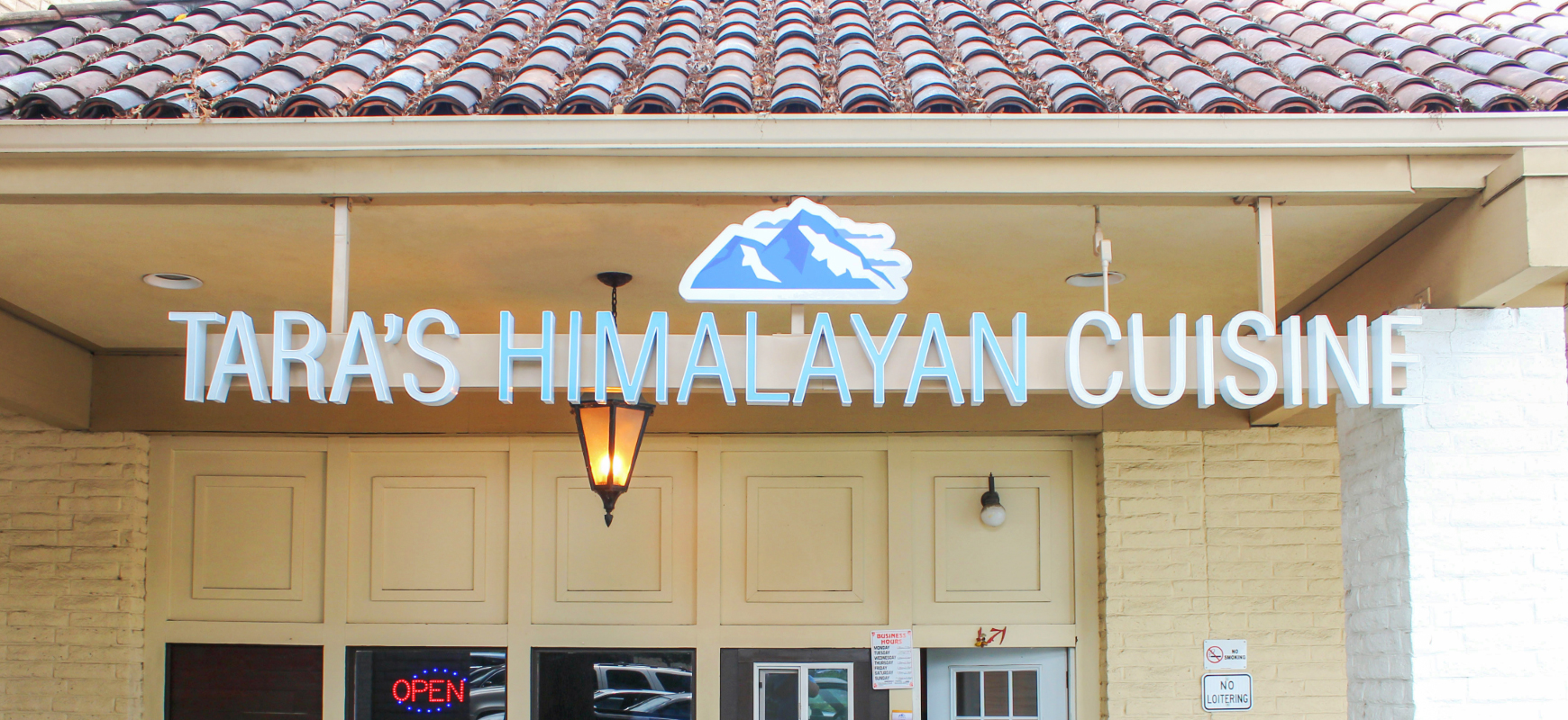 Tara's Himalayan Cuisine custom channel letter sign made of acrylic and aluminum for restaurant outdoor design and branding