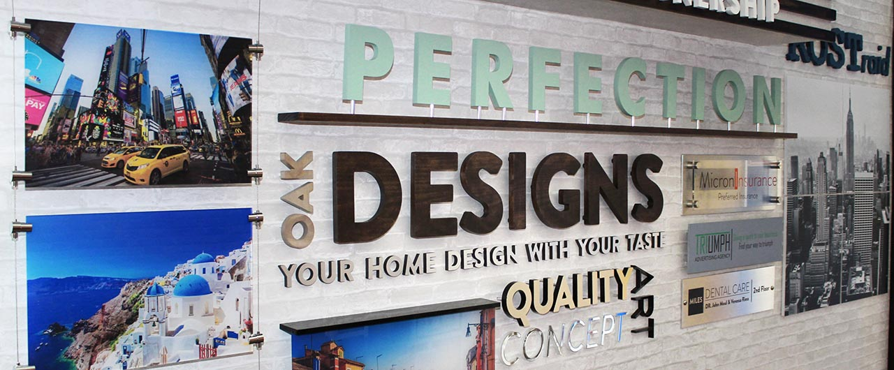 PERFECTION showroom business sign