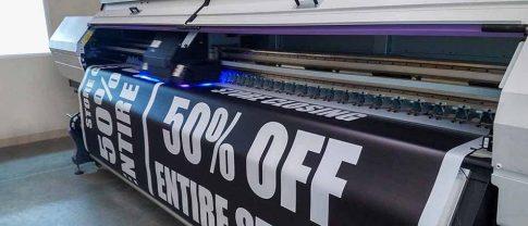 50% off black background vinyl banner printing - Front Signs