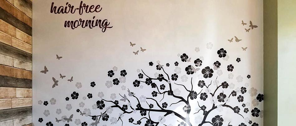 Have Free Morning flower printed wall decal