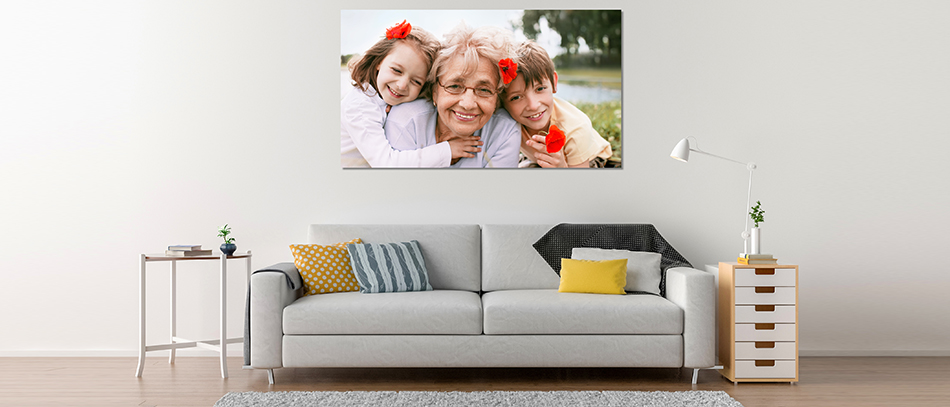 Family portrait wall decor on PVC material