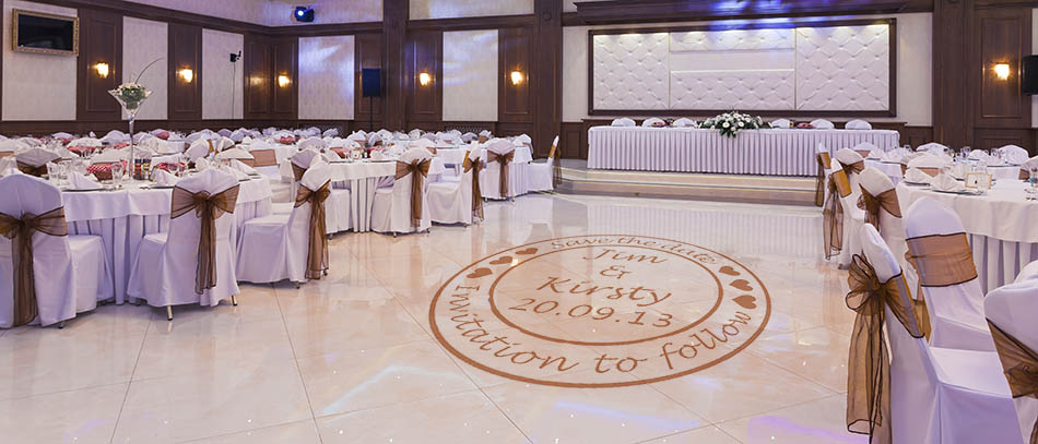 save the date wedding floor decal