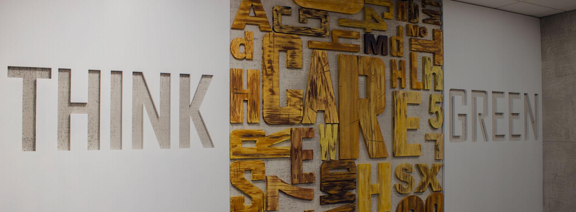wooden 3d letters