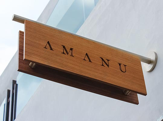 wooden engraved sign