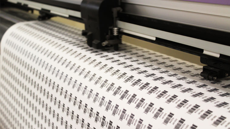 Cutting Printed QR code Stickers with plotter cutter