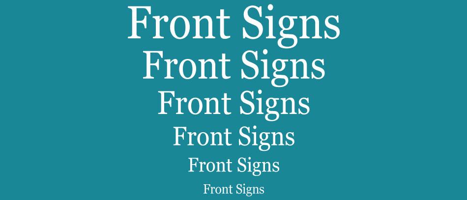 Fonts sizes