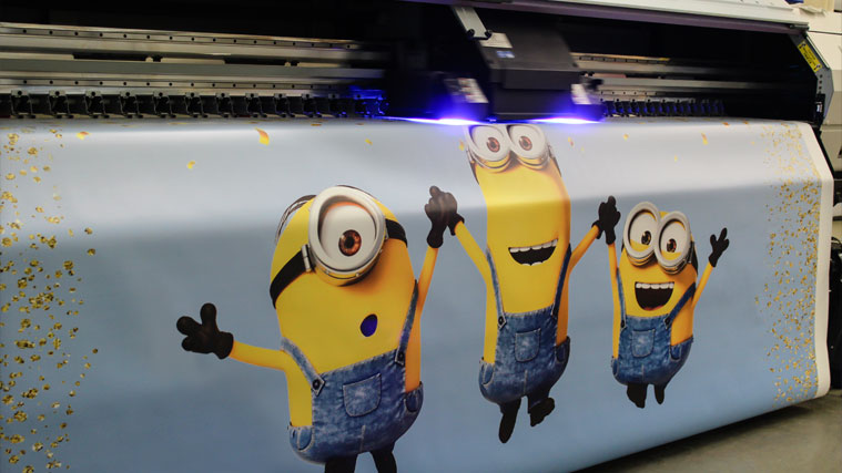 Decorative Vinyl Banner Printing with cartoon characters on it