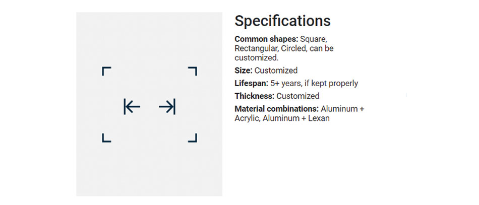 lightbox-specifications