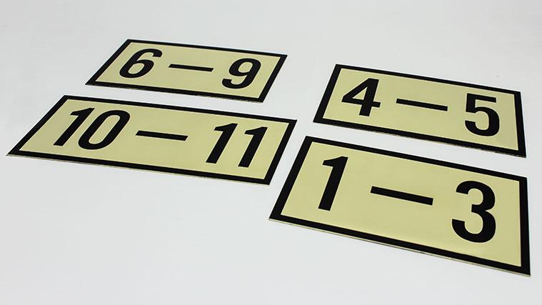 Aluminum Number Sign