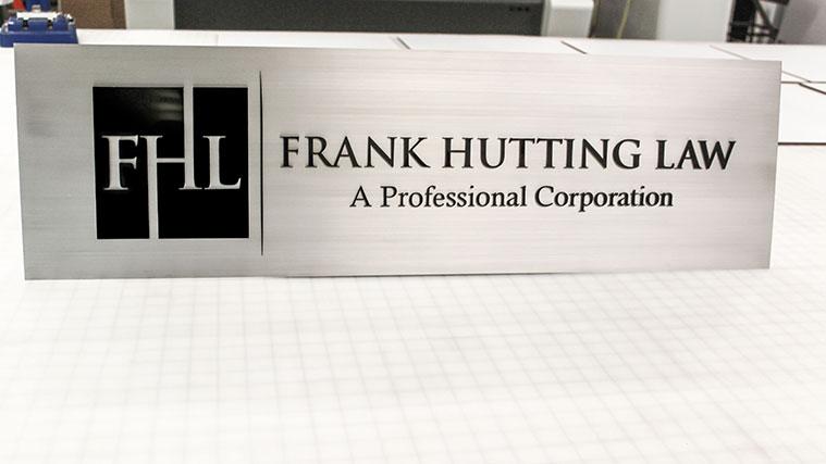 Business Brushed Aluminum Sign