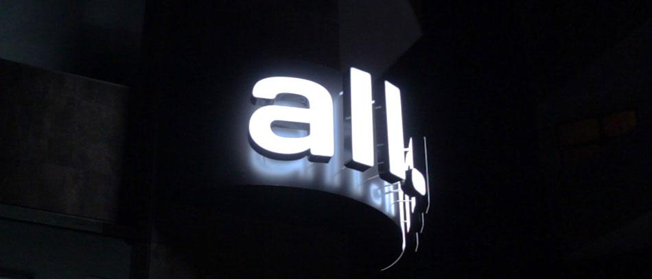 dual lit channel letter build up sign