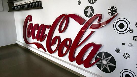 Coca-Cola Acrylic letters