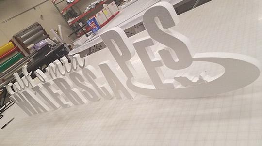 Foamboard 3D letters