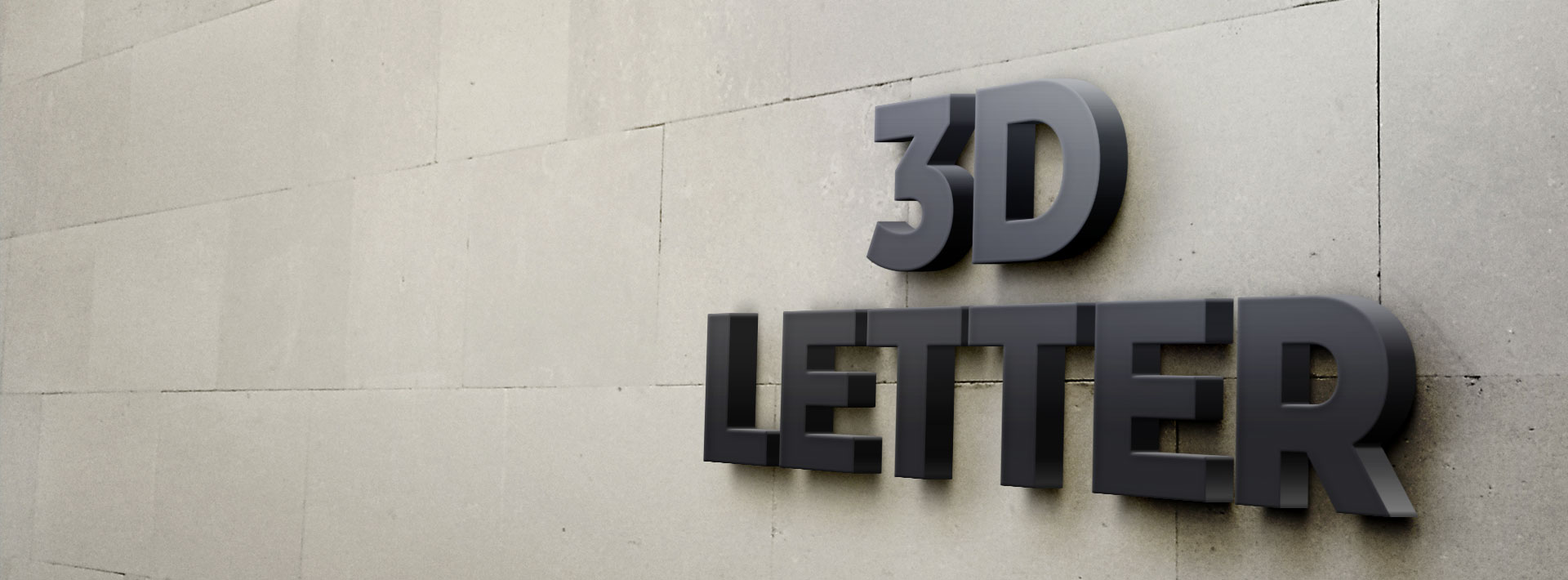 Personalized 3D Letters