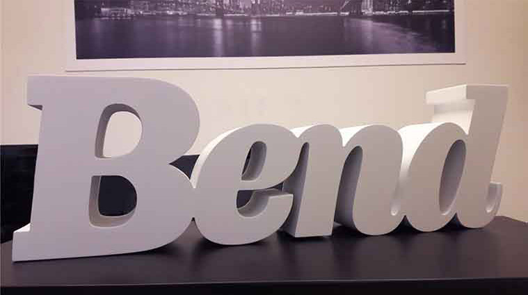 White Coated Plywood Letters